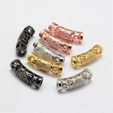cirkonia filigrán szives cső köztes 1 db arany 3 mm