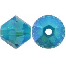 sw bicone 4 mm blue zircon AB2x Xilion