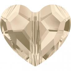 5741 szív gyöngy 8 mm: light silk