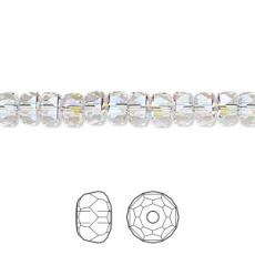 5045 rondelle gyöngy crystal AB 6 mm
