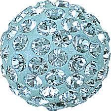 sw pavé gyöngy aquamarine 8 mm