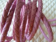 5 mm fonott bőrszál rózsaszín 1 cm másodosztályú