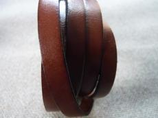 10 mm bőr karkötő alap barna/2 1 cm