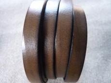 10 mm bőr karkötő alap barna/3 1 cm