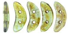 crescent gyöngy: áttetsző lüszteres zöld 20 db