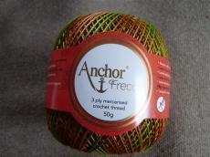 Anchor Freccia horgolócérna 12-es barna-zöld-barack színátmenetes 50 gr