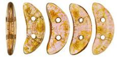 crescent gyöngy: luster rose/gold topaz 20 db