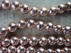 szintetikus hematit gyöngy 10 mm 10 db rose gold másodosztályú