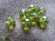 csiszolt gyöngy 10 mm olivin hematit bevonattal 5 db