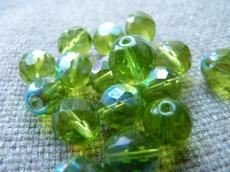csiszolt gyöngy 10 mm olivin AB 5 db