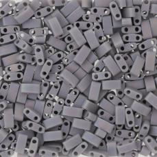miyuki half tila opaque cement grey matt ab kb. 2,5 g