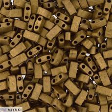 miyuki half tila matt metál dark bronze kb. 2,5 g