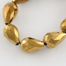 csepp alakú gyöngy 12 mm: metál bronz 10 db