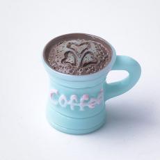 akril kávésbögre medál türkizkék