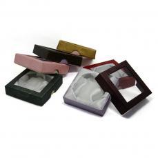 ajándékdoboz karkötőhöz: rózsaszín ablakos