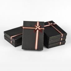 ajándékdoboz nagy: barna pöttyös