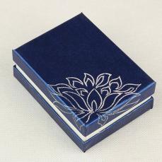 ajándékdoboz: kék hologramvirágos
