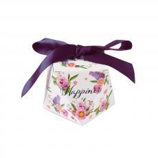 ajándékdoboz összehajtható: virágos