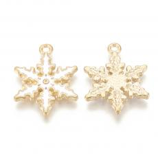 fehér-arany hópehely medál