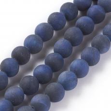 matt festett kék tigrisszem 8 mm