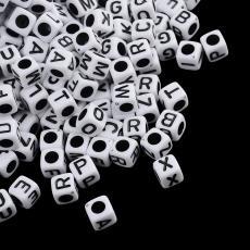 akril betű gyöngy fehér-fekete X