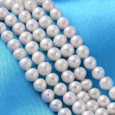 tenyésztett gyöngy kerek fehér 7-8 szál