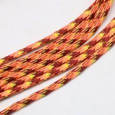 paracord zsinór 4 mm 1 m neon narancs-bordó-barna