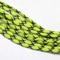 paracord zsinór 4 mm 1 m neon zöld-fekete