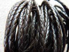 3 mm fonott bőrszál sötétbarna 1 cm