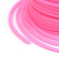 kaucsuk nyaklánc alap rózsaszín 2 mm 1 m