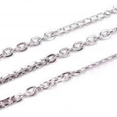platinum színű rozsdamentes acél szemes lánc 1 m /3
