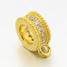 cirkonia medáltartó arany