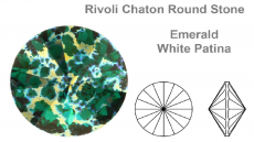 sw rivoli emerald white patina 8 mm ss39 fóliázatlan