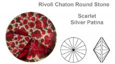 sw rivoli scarlet silver patina 8 mm ss39 fóliázatlan