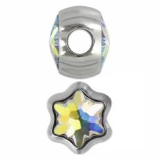 BeCharmed metal gyöngy hópehely crystal AB