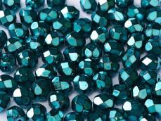3 mm csiszolt jet heavy metal turquoise 50 db
