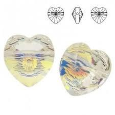 5742 szív gyöngy crystal AB
