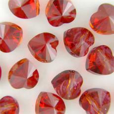 5742 szív gyöngy crystal red magma