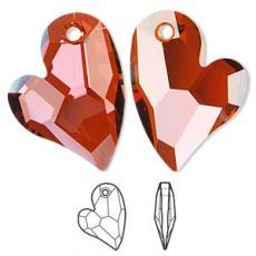 sw6261 szív függő Crystal red magma