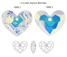 sw6264 szív függő crystal AB