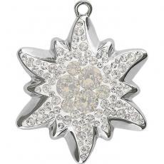 BeCharmed pavé pendant hópehely crystal-white opal