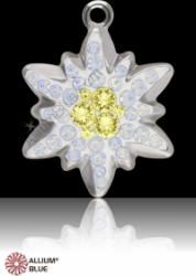 BeCharmed pavé pendant hópehely white opal-jonquil