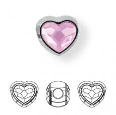 BeCharmed metal gyöngy szív rose