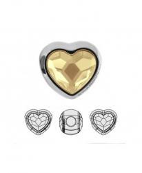 BeCharmed metal gyöngy szív golden shadow