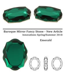 4142 baroque mirror emerald 14 mm
