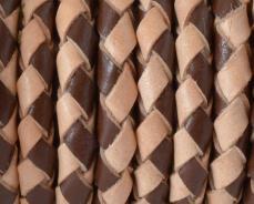 5 mm fonott bőrszál natúr-barna 1 cm