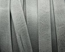 10 mm bőr karkötő alap matt szürke 1 cm