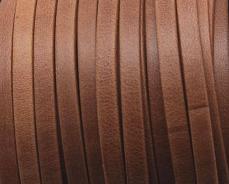 5 mm bőr karkötő alap matt camel 20 cm