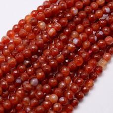 fazettált narancs achát 6 mm