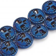 szintetikus hematit gyöngy életfás matt metál kék-szivárványos